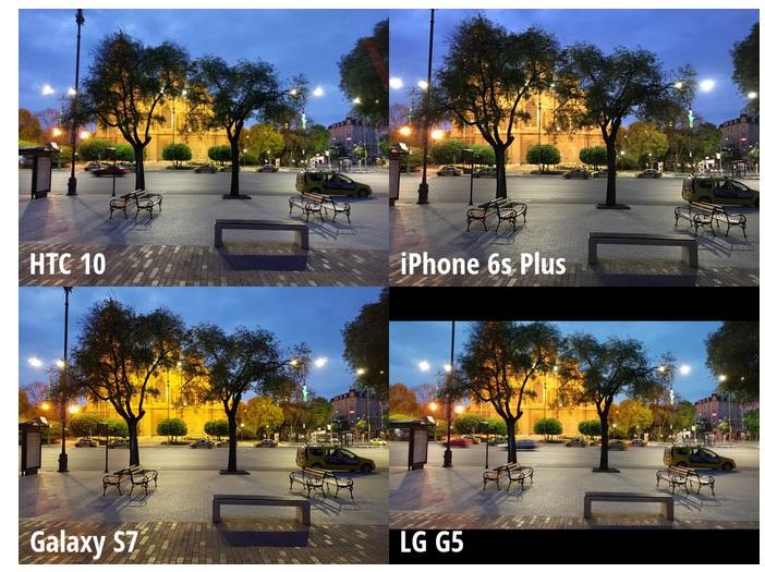 Scene 1 - HTC 10 、Galaxy S7、 LG G5、iPhone 6s Plus_