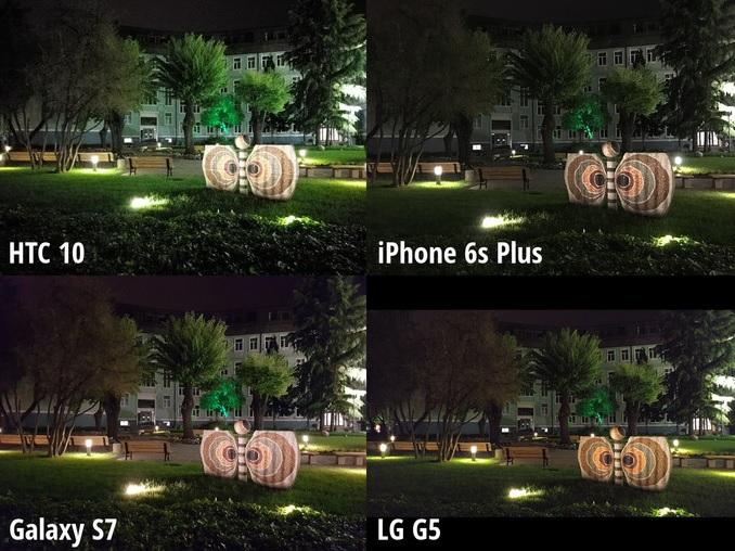 Scene 4 - HTC 10 、Galaxy S7、 LG G5、iPhone 6s Plus_