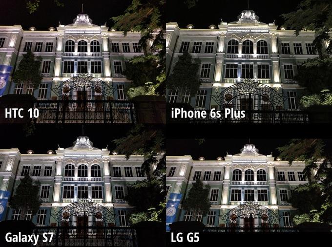 Scene 5 - HTC 10 、Galaxy S7、 LG G5、iPhone 6s Plus_